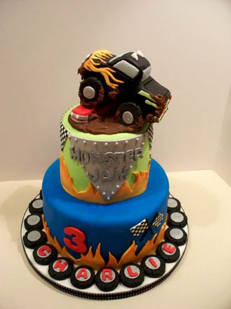 Awesome Monster Jam Cake 2 Broadwaybakery Com 41403 Funny Birthday Cards Online Elaedamsfinfo