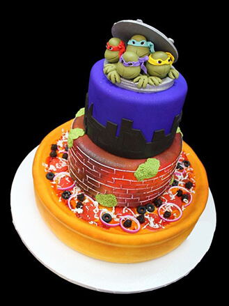 Say Yes To Pizza Ninja Turtle Cake, broadwaybakery com 40927