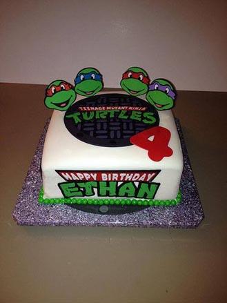 Superb Sewer Lid Ninja Turtles Cake Chocolatefactory Ae 40934 Funny Birthday Cards Online Necthendildamsfinfo