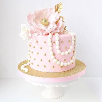 Petals & Pearls Cake