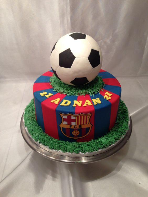 Barcelona FC Football Cake 3