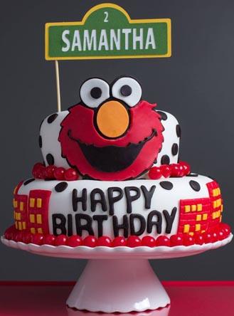 Elmo Tiered Cake 2 Broadwaybakery 40673