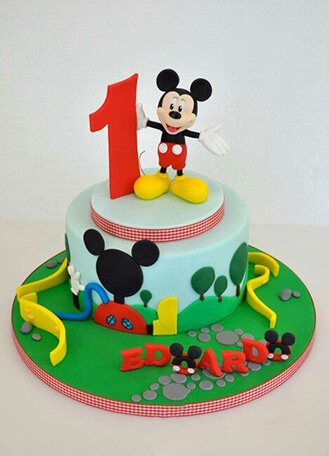 Swell Mickey Mouse Clubhouse Cake 1 Broadwaybakery Com 40474 Personalised Birthday Cards Veneteletsinfo