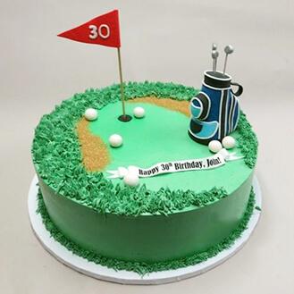 Cool Golf Bag On Golf Balls Cake Broadwaybakery Com 40917 Personalised Birthday Cards Arneslily Jamesorg