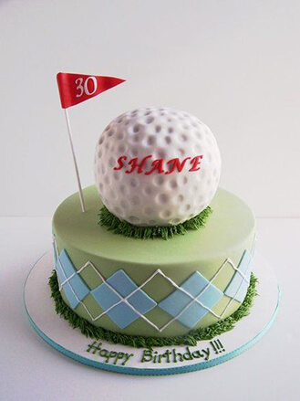 Incredible 3D Golf Ball On Golf Course Cake Broadwaybakery Com 40899 Personalised Birthday Cards Arneslily Jamesorg