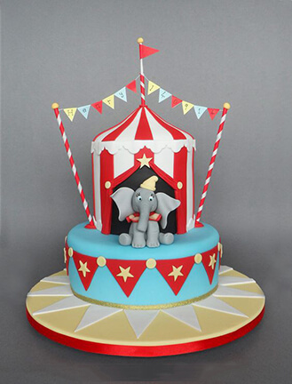 Superb Dumbo At The Circus Cake Broadwaybakery Com 41873 Birthday Cards Printable Trancafe Filternl