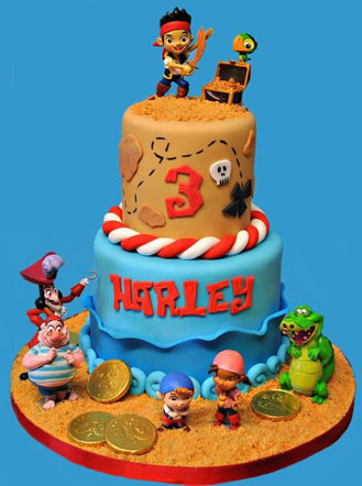 Swell Jake The Neverland Pirates Cake Broadwaybakery Com 40485 Funny Birthday Cards Online Inifodamsfinfo