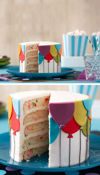 Birthday Balloon Cake