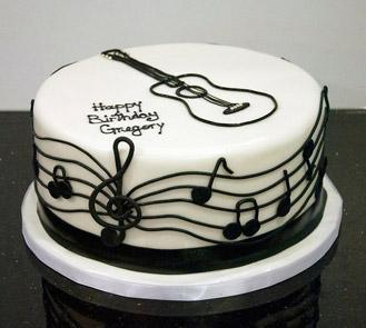 Guitar Maestro Birthday Cake Broadwaybakery 40304