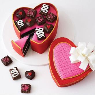 Candy Box Heart Shaped Cake