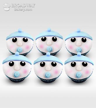 It's A Boy! Celebration Cupcakes - Half Dozen
