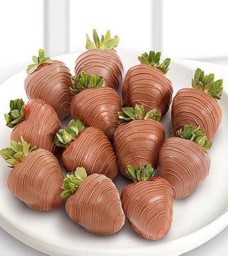 The Classic - Dozen Milk Chocolate Covered Strawberries
