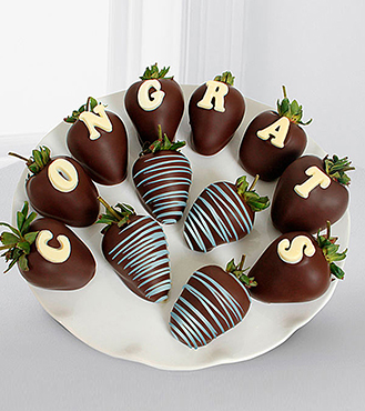 Chocolate Dipped Congratulations Berry Gram