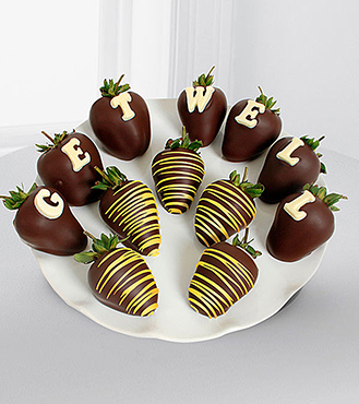 Chocolate Dipped Get Well Berry Gram
