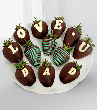 Chocolate Dipped Love U Dad Berry Gram