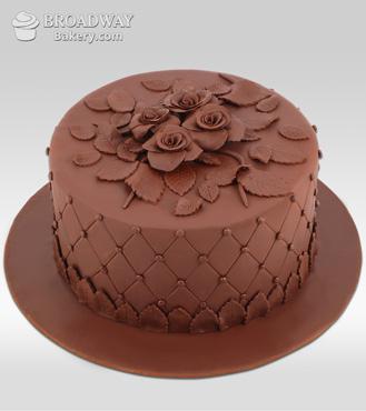 Rose Art Chocolate Cake