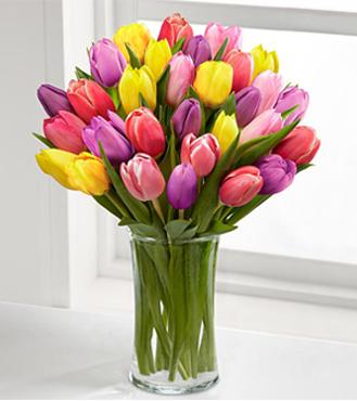 Color Assorted Tulip Bouquet
