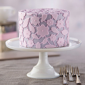 Floral Lattice Cake