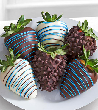 Blue Bounty - 6 Dipped Strawberries