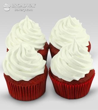 Red Velvet Addiction - 4 Cupcakes
