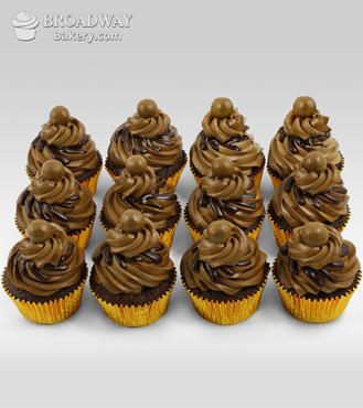 12 Mocha Cupcakes