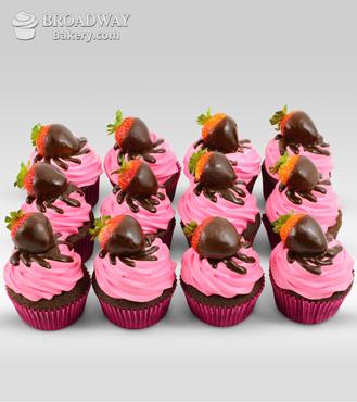 Strawberry Burst - 12 Cupcakes