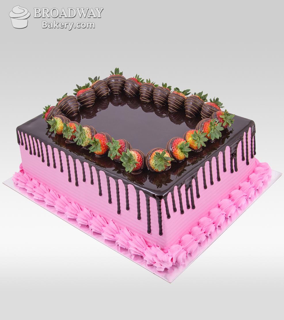 Oh So Pretty Strawberry Chocolate Cake - 4Kg