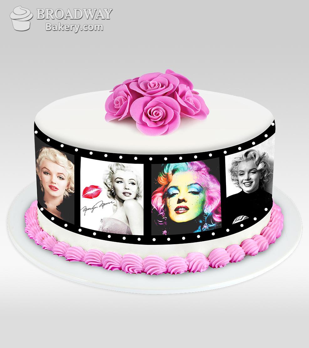 Red Velvet Photo Reel Cake