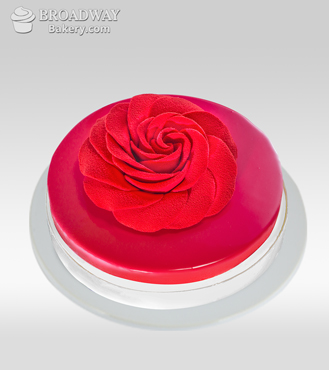 Red Rosette Chocolate & Raspberry Cake