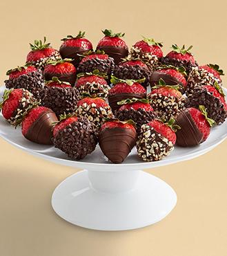 The Dark Side - Two Dozen All Dark Strawberries