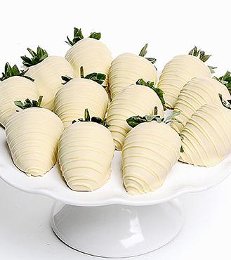 Dreamy White Chocolate Covered Strawberries