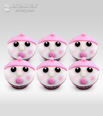 It's A Girl! Celebration Cupcakes - Half Dozen