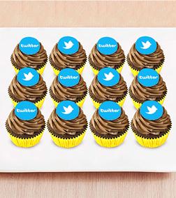 Chocolate Bomb - 12 Cupcakes with Edible Logo