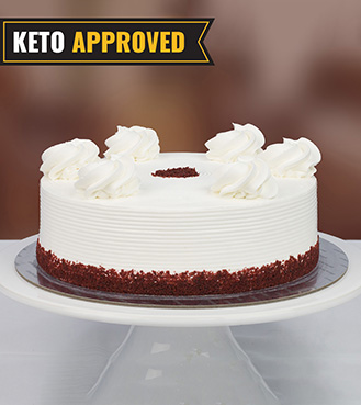 Keto 1KG Red Velvet Cake By Broadway Bakery. Gluten Free, Sugar Free, Low Carb Dessert...