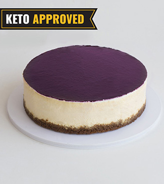 Keto 1/2KG Blueberry Cheesecake By Broadway Bakery. Gluten Free, Sugar Free, Low Carb Dessert...
