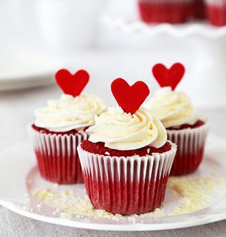 Fluttering Hearts Red Velvet Dozen Cupcakes