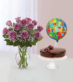 Lavender Wishes Sugarfree Chocolate Cake Bundle