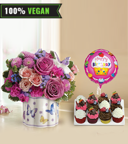 Field Of Butterflies Vegan Cupcake Bundle