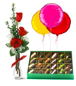 Ramadan Surprise Bundle with Assorted Stuffed Dates Box and Balloons