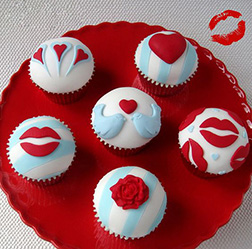 Hearts & Kisses Dozen Cupcakes