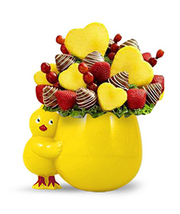 Love Bird Pineapple and Berry Bouquet