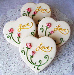 Vines of Love Valentine's Day Cookies