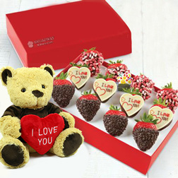 Be My Teddy Bear Chocolate Strawberry Box