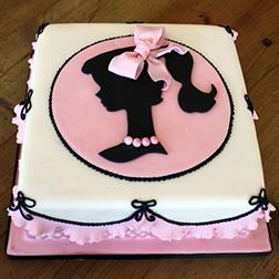 Vintage Barbie Silhouette Cake