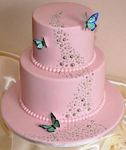 Her Pink Ascension Cake