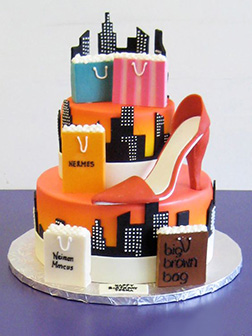 Shopping Spree Tiered Cake