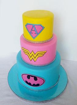 Girl Power Tiered Cake