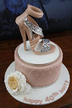 Diamond Crusted Stiletto Cake