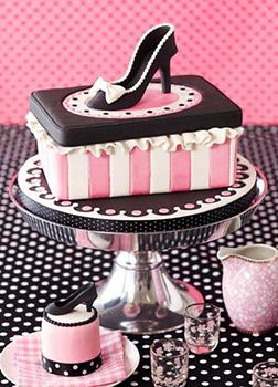 Pink Stripes Women's Day Cake