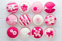 Shades of Pink Cupcakes - Dozen